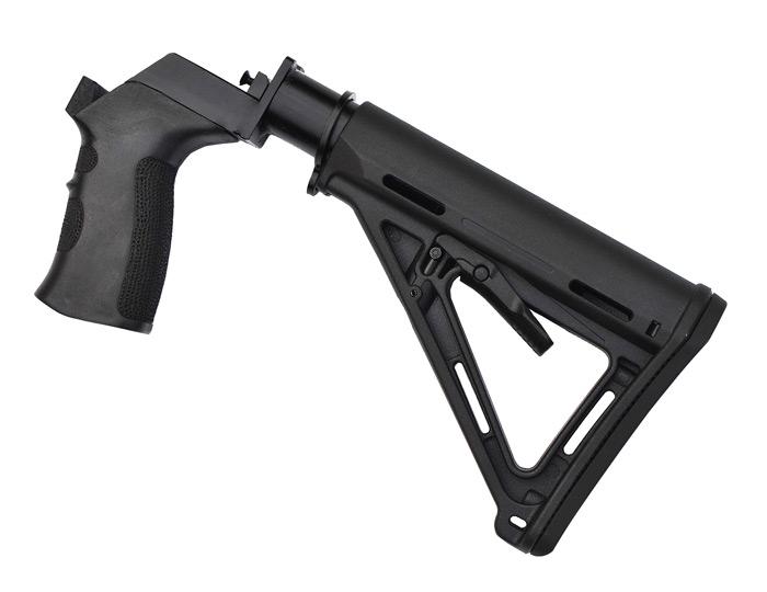 Телескопический приклад с моторной рамой и пистолетной рукоятью